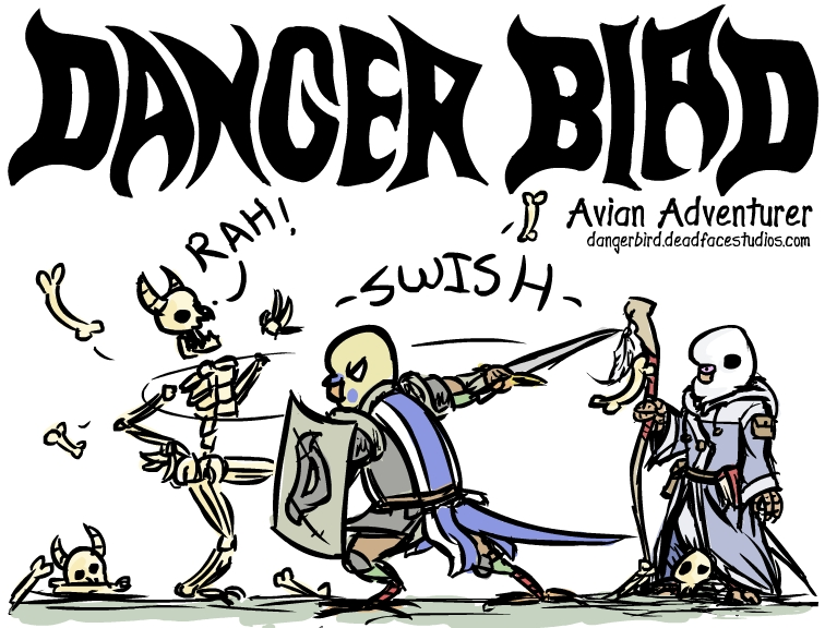 danger bird comic con poster
