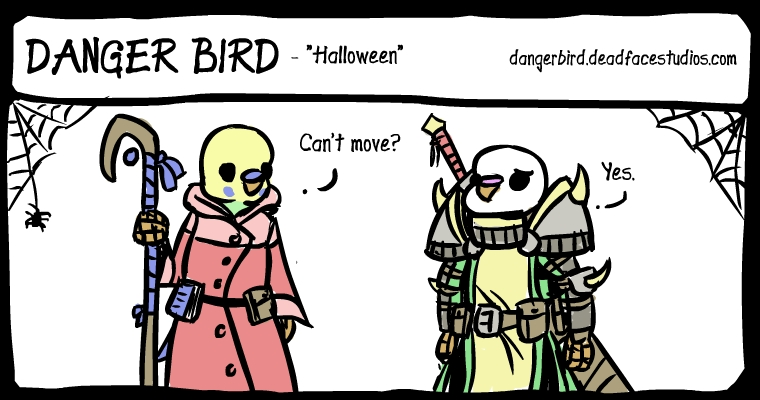 White Bird is dressed as a berzerker.  IT'S FUNNY